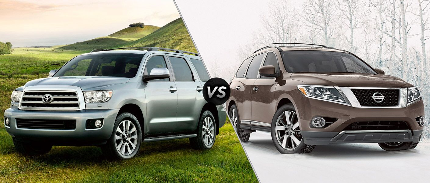 2016 toyota sequoia vs 2016 nissan pathfinder. Black Bedroom Furniture Sets. Home Design Ideas