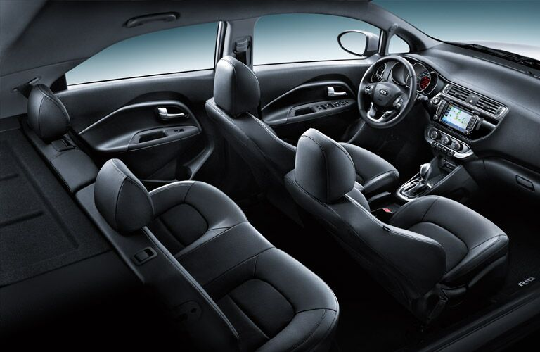 What does the interior of the Kia Rio look like?