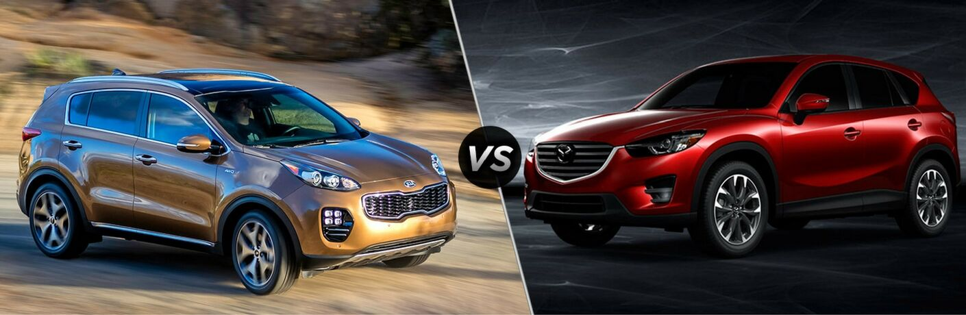 How does the Kia Sportage compare to the Mazda CX-5?
