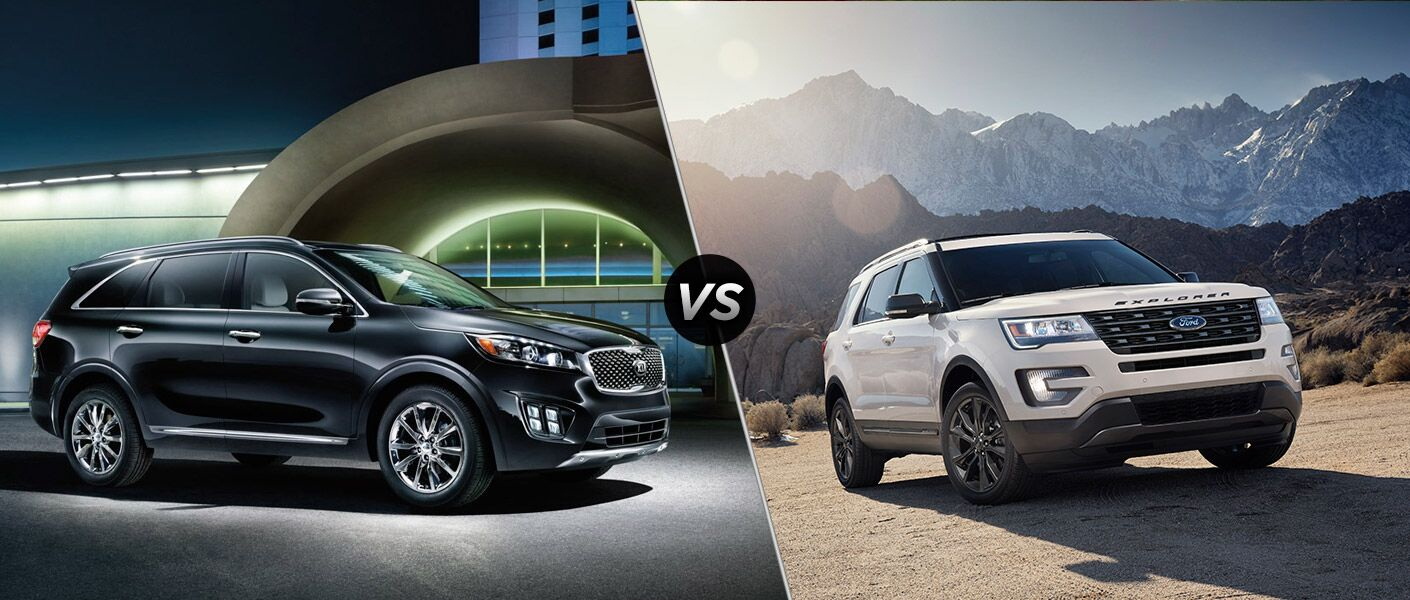 How does the 2017 Kia Sorento compare to the 2017 Ford Explorer?