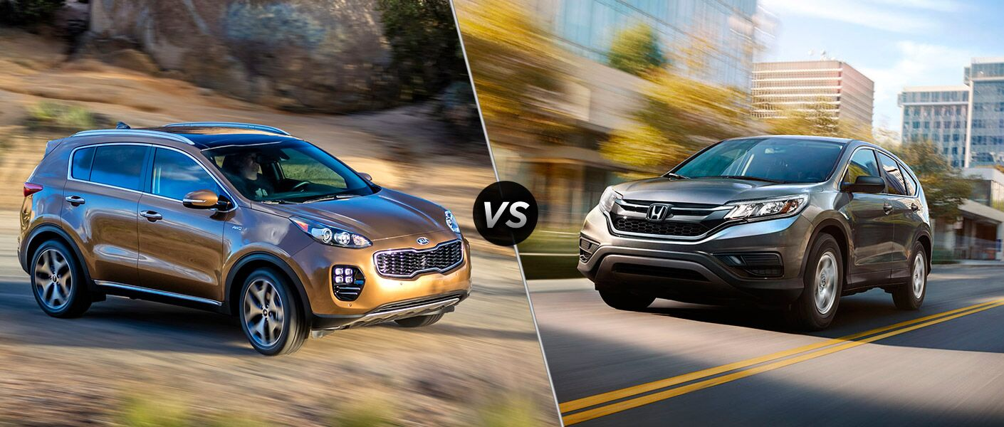 How does the Kia Sportage compare to the Honda CR-V?