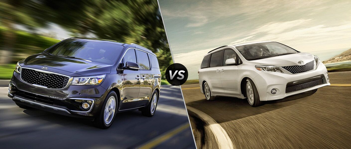 How does the Kia Sedona compare to the Toyota Sienna?