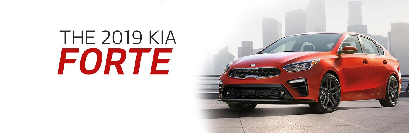 2019 Kia Forte exterior front fascia and drivers side coming soon banner