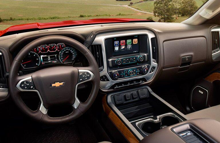 2017 Chevy Silverado interior and steering wheel