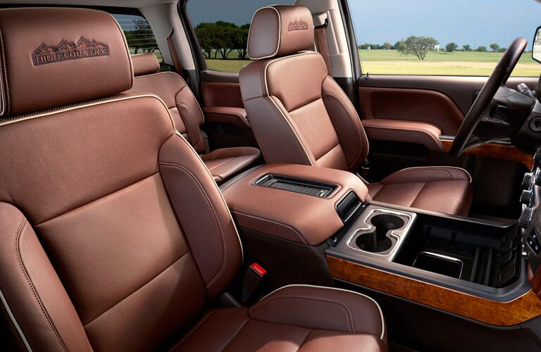 2017 Chevy Silverado High Country brown leather seats