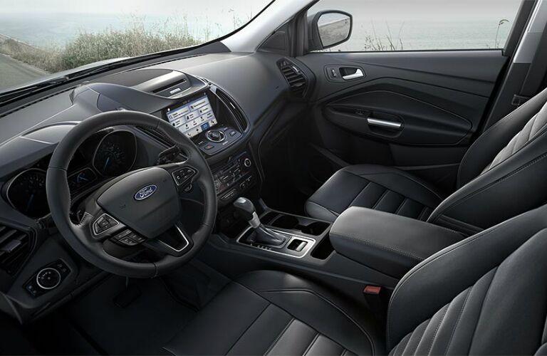 2017 Ford Escape black interior