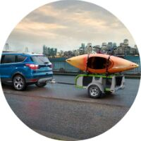 2017 Ford Escape towing a canoe