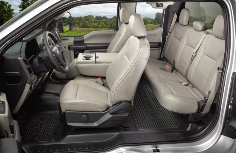 2017 Ford F-250 interior with leather seats