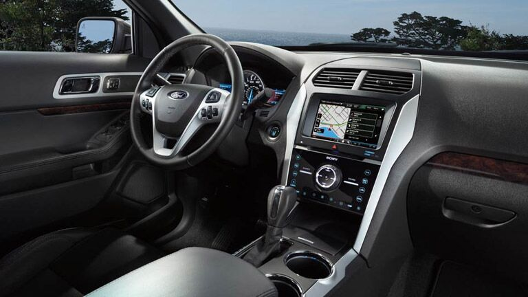 The 2015 Ford Explorer Atlanta GA has a sleek interior.