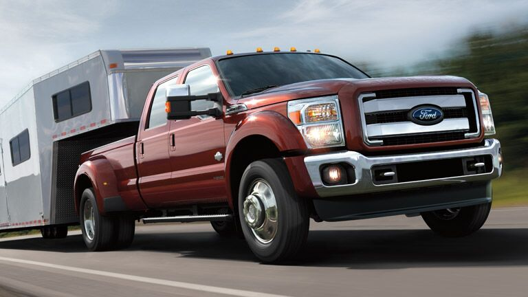 Stylish red  2015 Ford Super Duty F-450