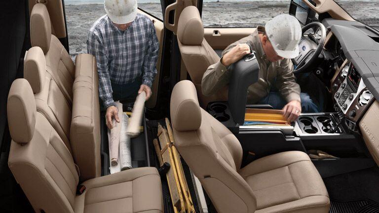 Six-passenger interior  2015 Ford Super Duty F-350