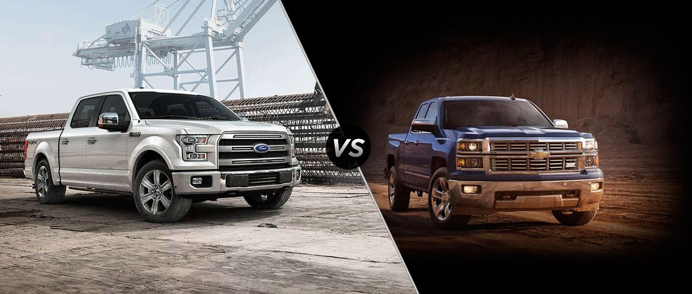 The 2015 Ford F150 vs 2015 Chevy Silverado 1500 comparison is easily won by the F150.