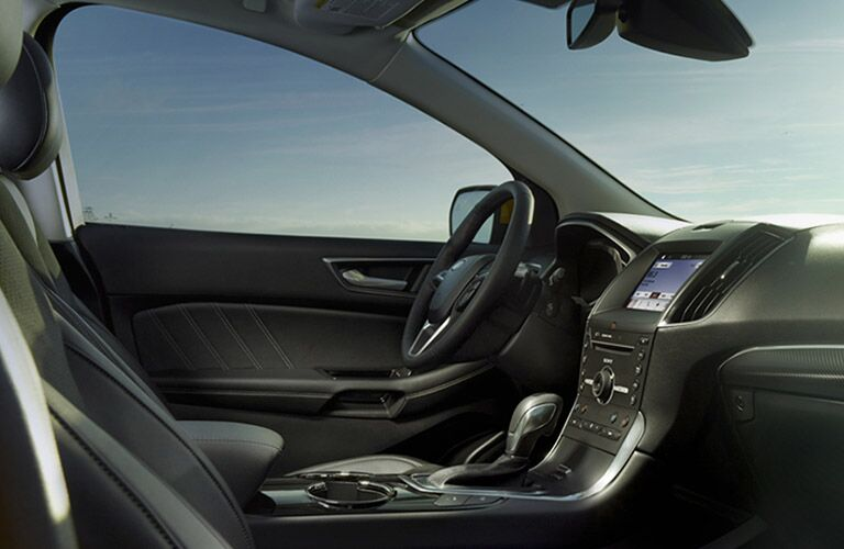 view of the driver's seat in the 2016 Ford Edge