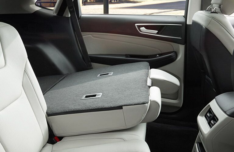 Spacious interior of the 2016 Ford Edge with fold-down seat