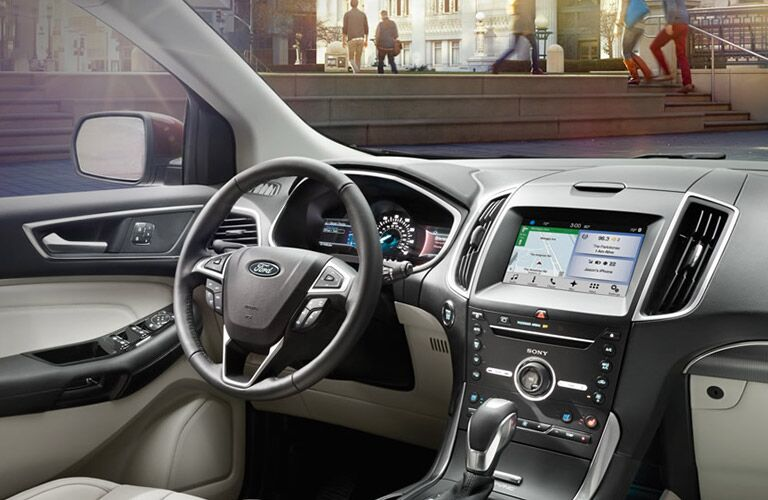 dashboard view of the 2016 Ford Edge
