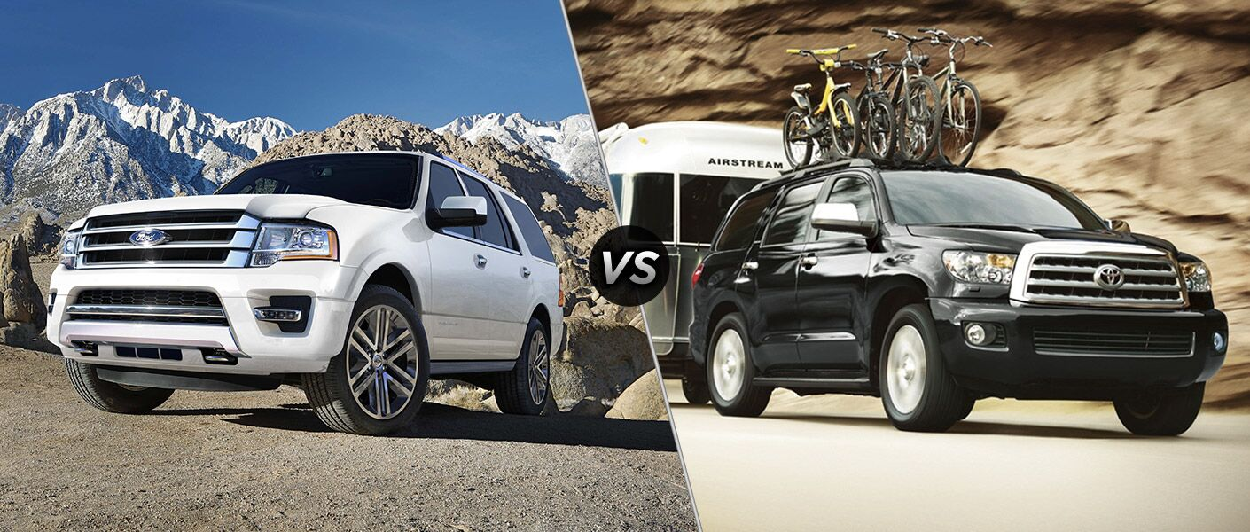 2016 Ford Expedition vs 2016 Toyota Sequoia