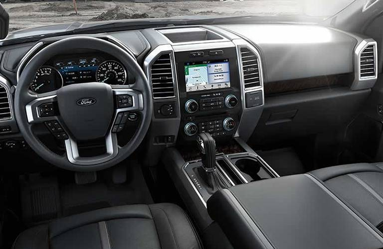 steering wheel and information display in the 2016 Ford F-150