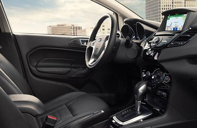 Driver's seat view in the 2016 Ford Fiesta