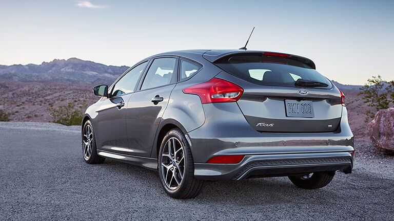 Rear view of the 2016 Ford Focus