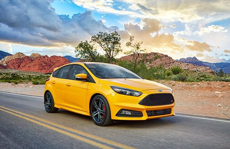2016 Ford Focus ST on the road