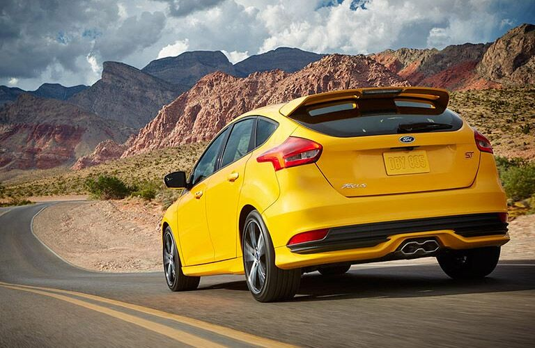 2016 Ford Focus EcoBoost yellow back