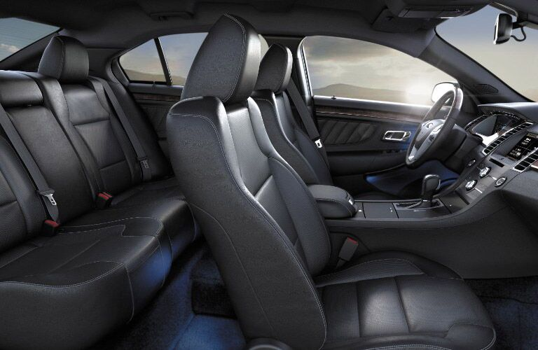 View of the 2016 Ford Taurus interior seating comfort