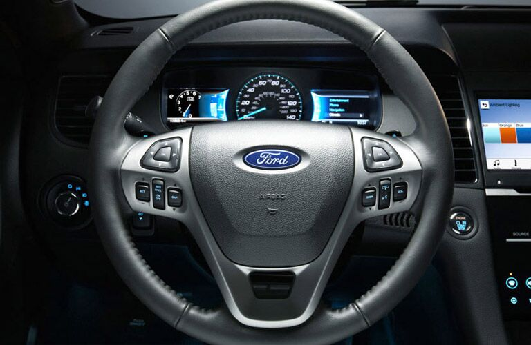 2016 Ford Taurus Akins Ford steering wheel and speedometer view