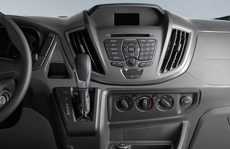 Control center on the 2016 Ford Transit at Akins Ford