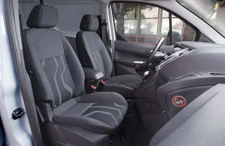 front seats of the 2016 Ford Transit Connect