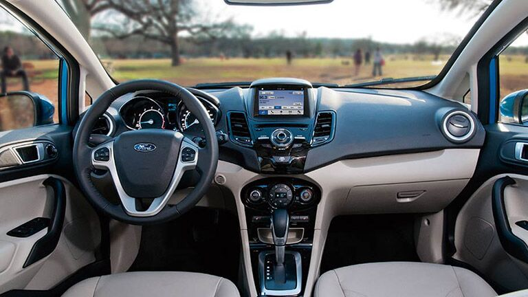 The interior of the 2016 Ford Fiesta Atlanta GA is great for any driver.