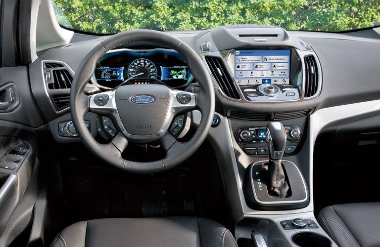 2017 Ford C-MAX Hybrid front interior driver dash and display audio
