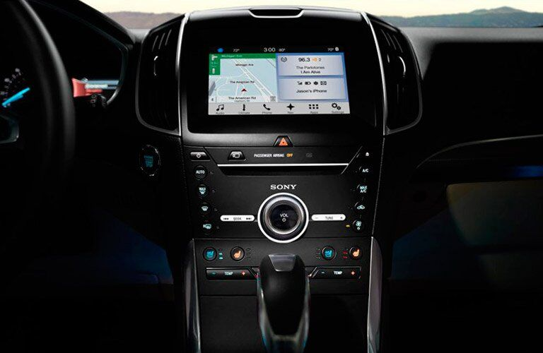 2017 Ford Edge front interior infotainment system