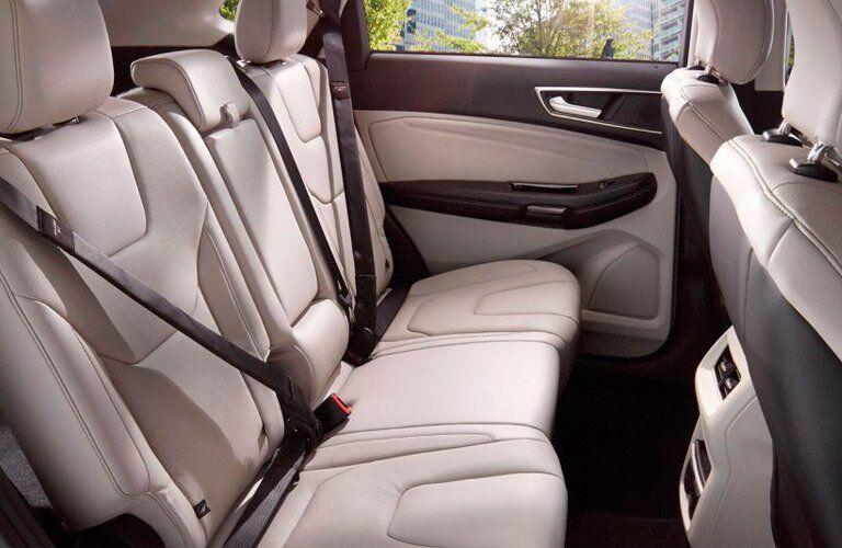 2017 Ford Edge rear interior passenger space