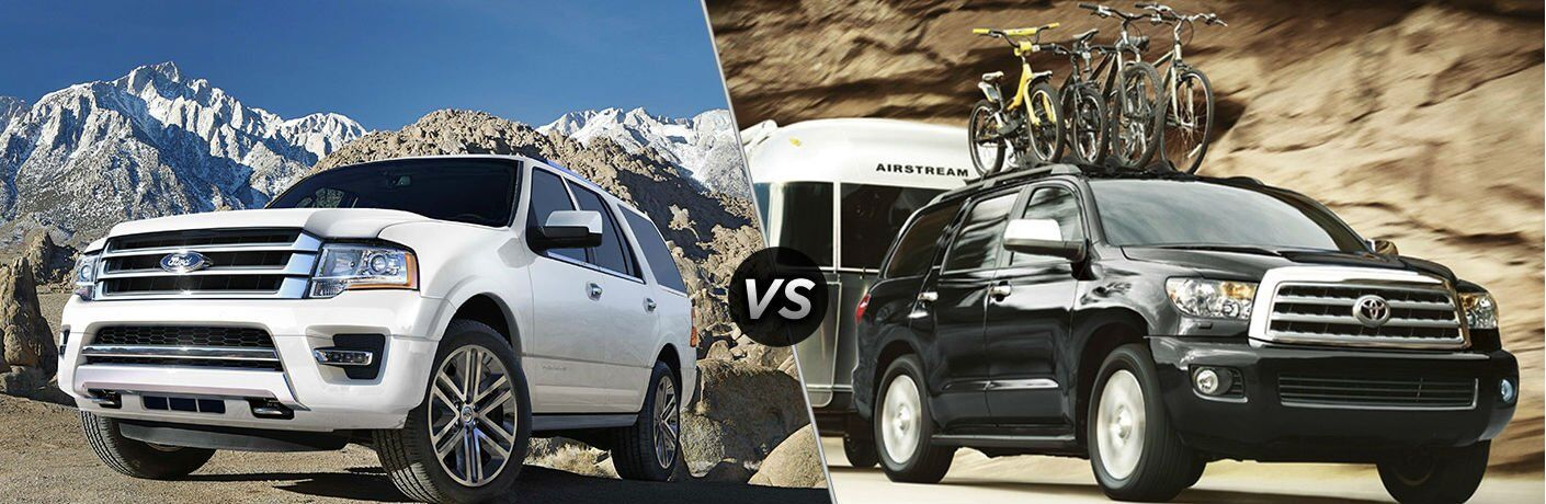 2017 Ford Expedition vs 2017 Toyota Sequoia