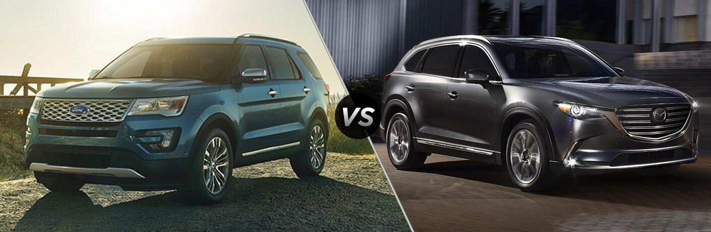 2017 Ford Explorer vs 2016 Mazda CX-9