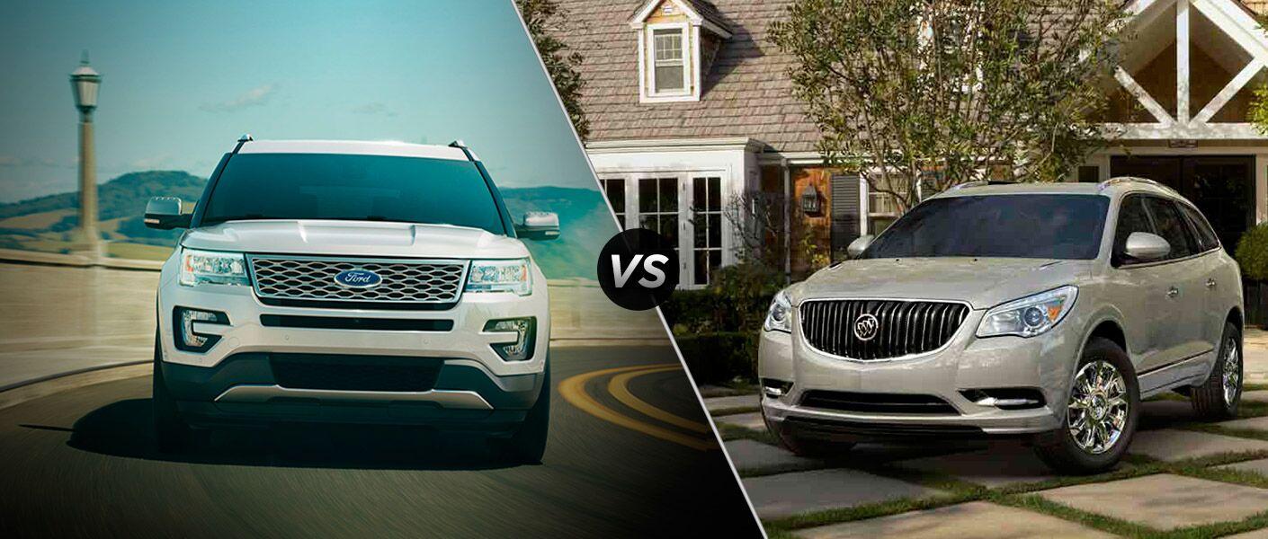 2017 Ford Explorer vs 2017 Buick Enclave