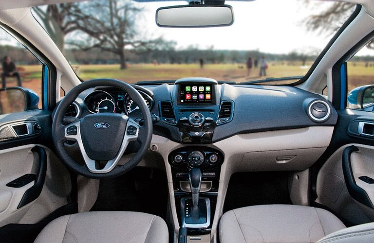 2017 Ford Fiesta EcoBoost dash and discplay