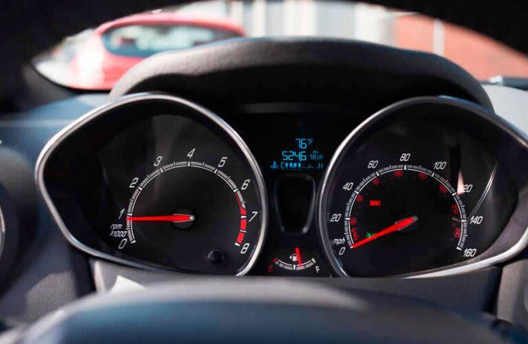 2017 Ford Fiesta front interior instrument cluster