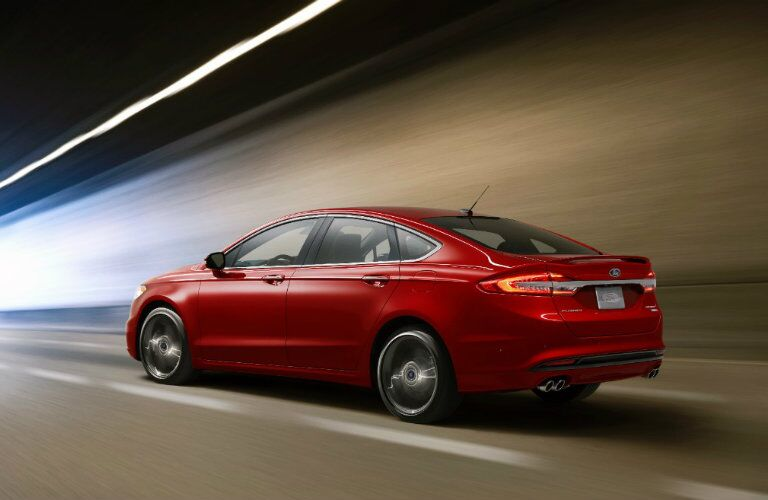 2017 Ford Fusion red back