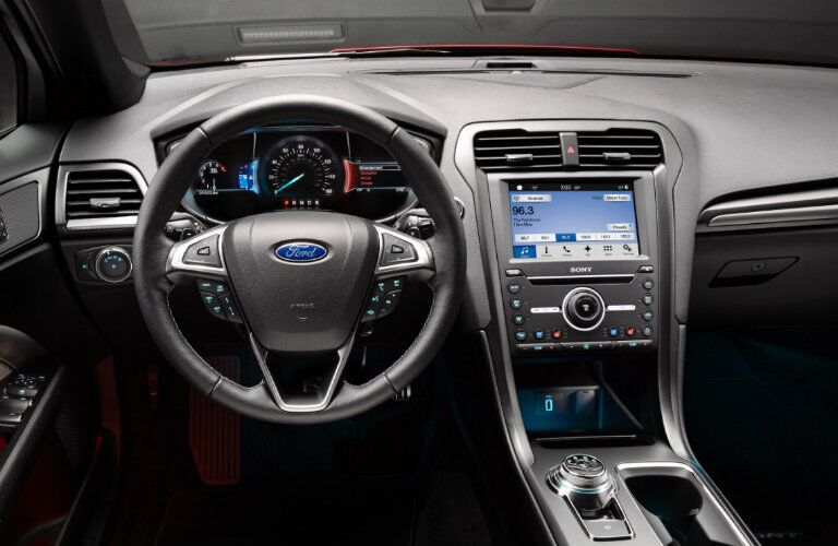 2017 Ford Fusion Energi dash and display