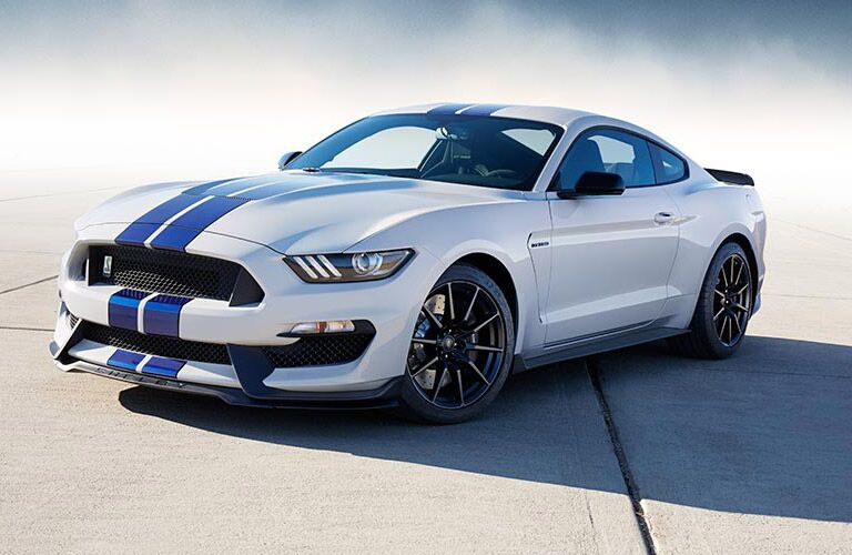 Ford Mustang white and blue