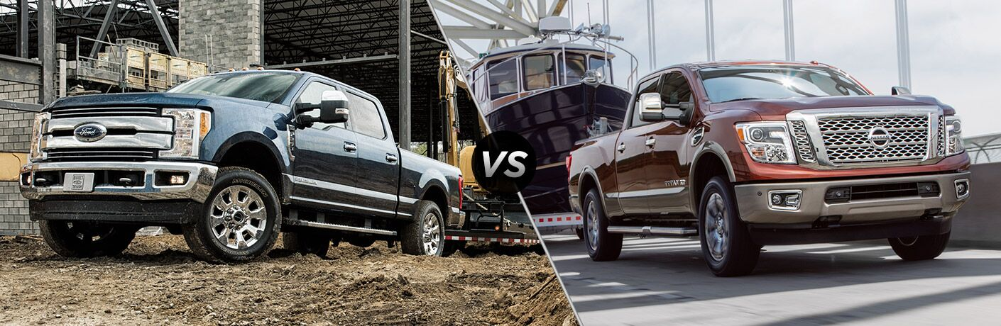 2017 Ford Super Duty vs 2017 Nissan Titan XD