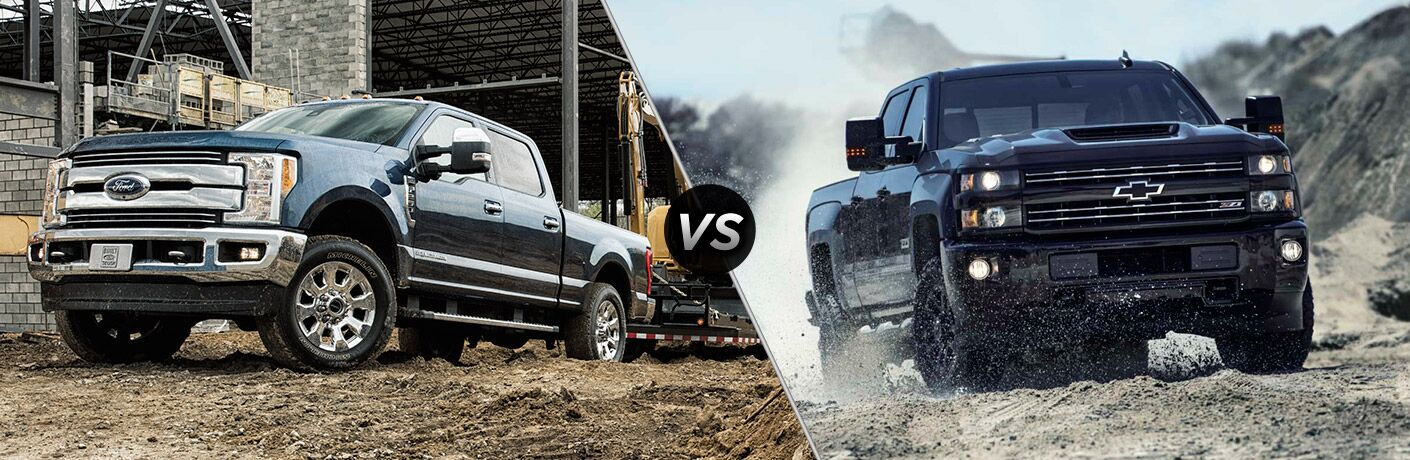 2017 Ford Super Duty vs 2017 Chevrolet Silverado HD
