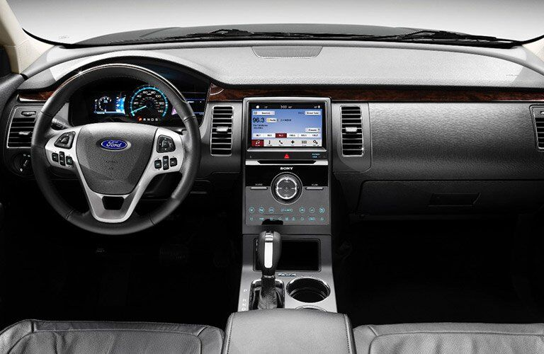2017 Ford Flex front interior driver dash and display audio