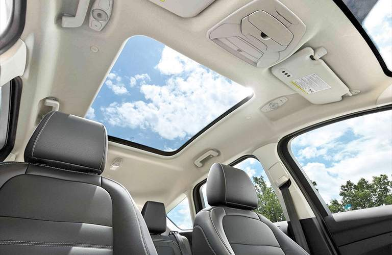 view looking out the sun roof of a 2018 Ford C-MAX Hybrid