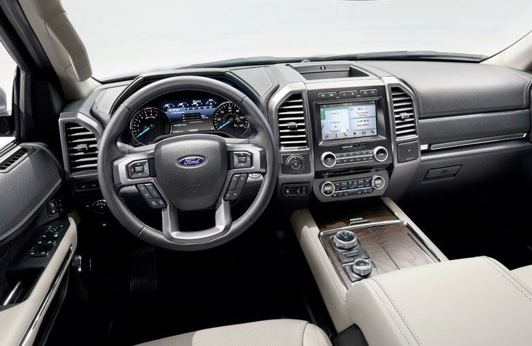 2018 Ford Expedition front interior driver dash and display audio