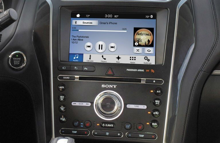 2018 Ford Explorer front interior infotainment system