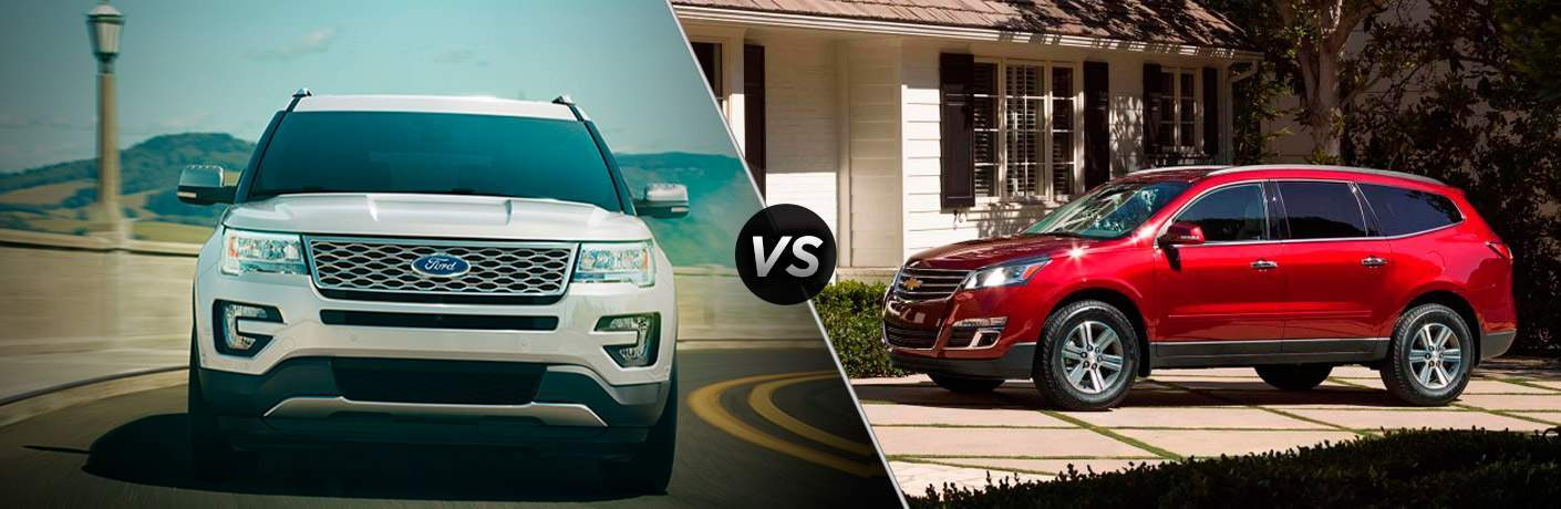 2018 Ford Explorer vs 2018 Chevy Traverse