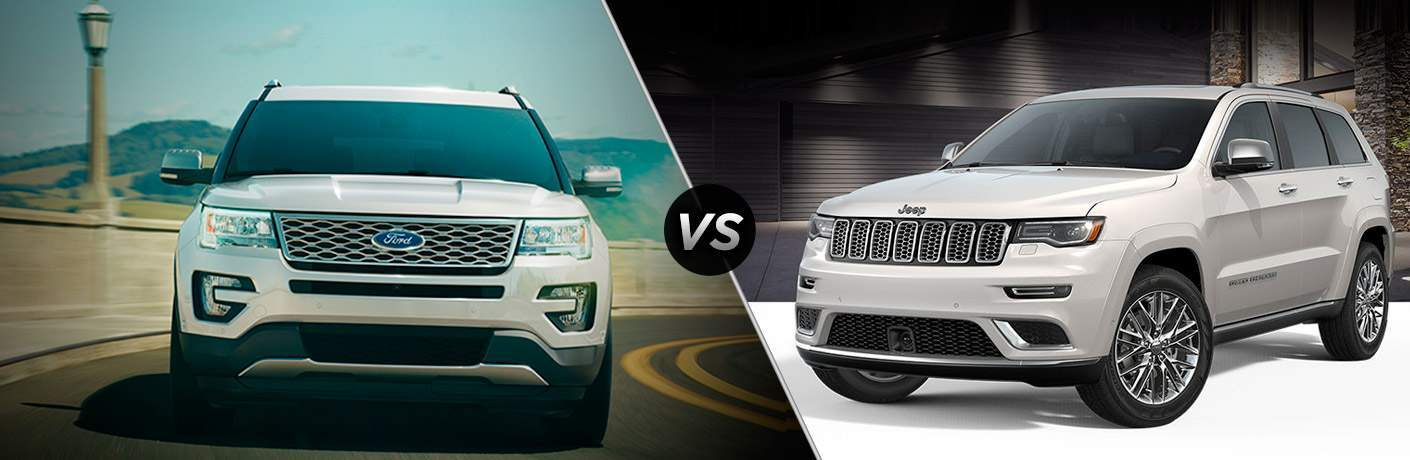 2018 Ford Explorer vs 2018 Jeep Grand Cherokee