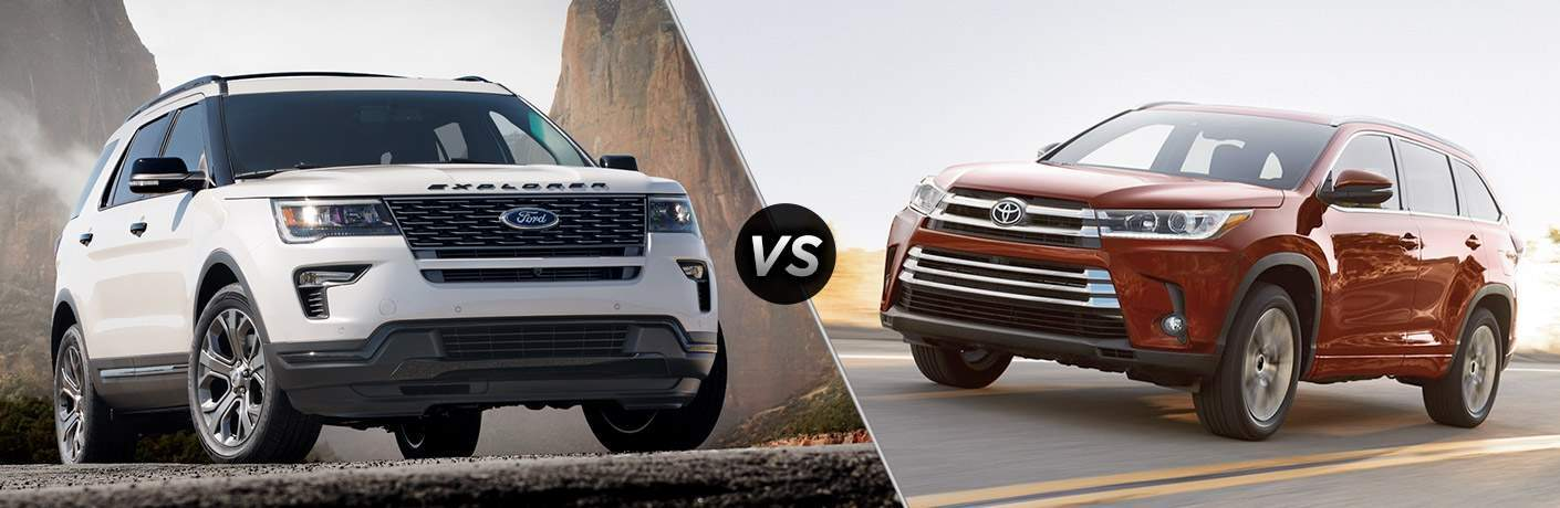 2018 Ford Explorer vs 2018 Toyota Highlander